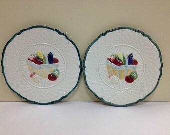 Decorative Plates Fitz and Floyd Harvest Plates Farmhouse Decor