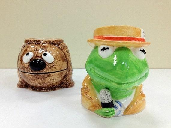 Kermit the Frog Mug Rowlf the Dog Mug