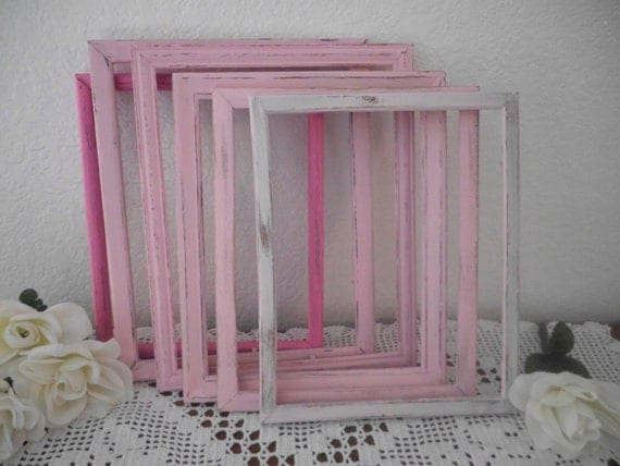 Shabby chic frame rustic wedding blush light pink and pink - Shabby chic decor for sale ...