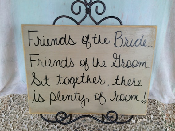 Rustic Tan and Black Sit Together There is Plenty of Room Wedding Sign