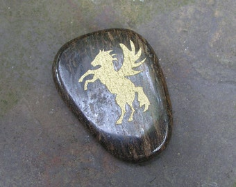 Pegasus Jasper Totem Gemstone Crystal Palm Stone