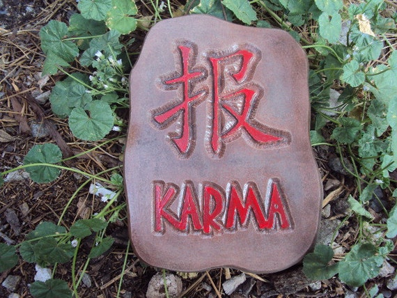 Cast Stone Karma Wall Hanging Ready To Hang ooak
