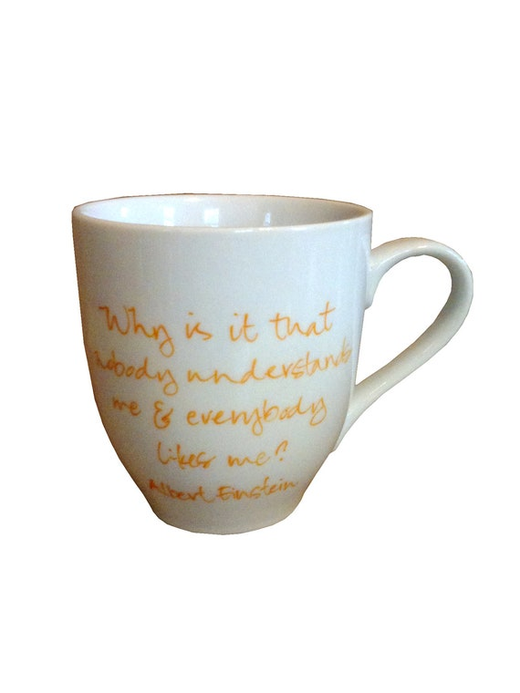 Albert Einstein Quote Cup