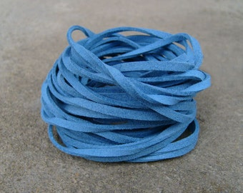 10Yds (900cm or 30Ft)- Sea Blue Faux Suede Cord, Lace (FS3-9)