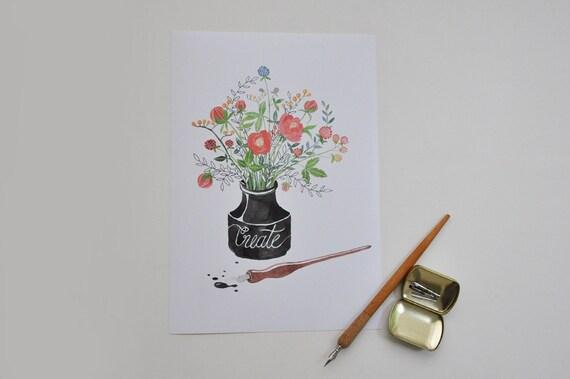 CREATE / art print