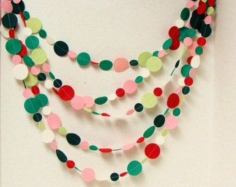 Felt Garland, U Choose Colors and Length