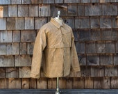Vintage Men's Filson Style 63 Double Logger tin cloth coat, made in USA