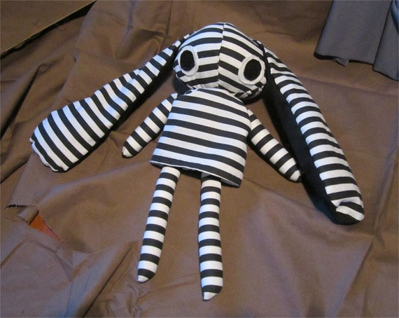 Derpy Emo Gothic Bunny Doll 1