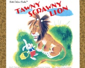 Tawny Scrawny Lion Fabric Golden Book by Quilting Treasurers - 1 Book Panel