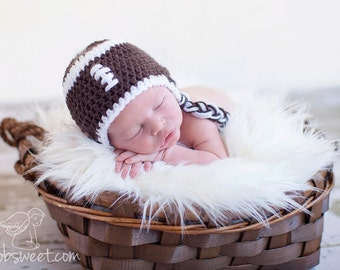 Infant hat - football - customize in team colors