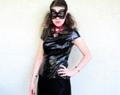 Steampunk Black Lace Mask Sexy Halloween Costume Cat Eye Mask