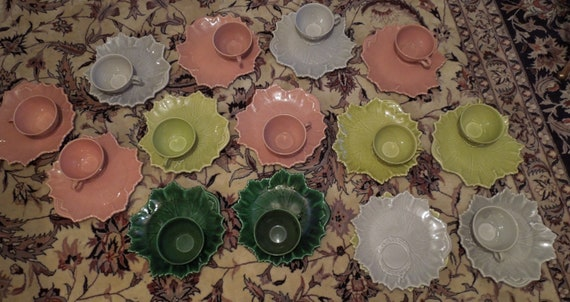 set 0f 13 plus extras pair of woodfield by steubenville, snack/tea sets, perfect cups and plates