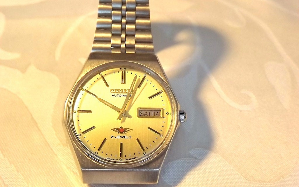 Vintage Citizen Automatic And Manual Wind Wrist Watch 21