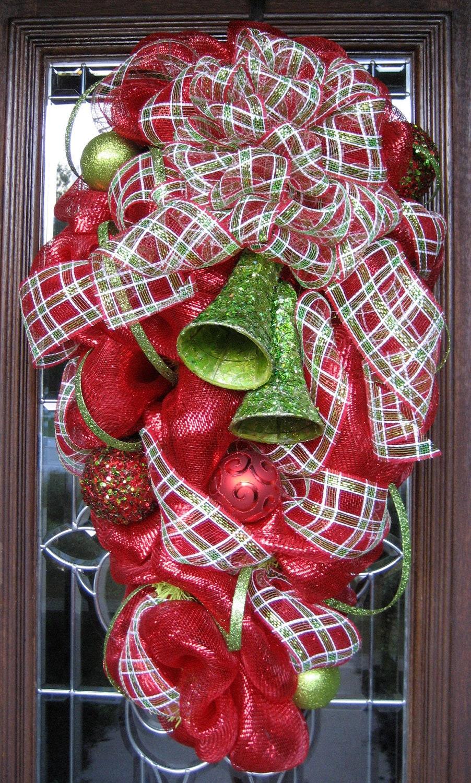 Deco Mesh Christmas Swag Wreath
