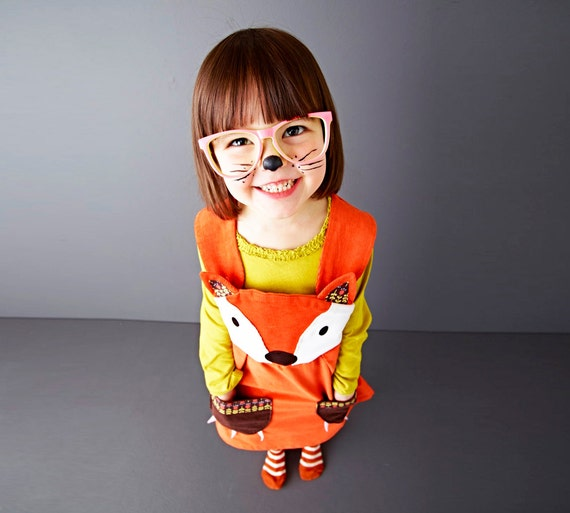 girls dress fox baby dress up