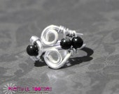 Black Hematite Gemstone Wire Wrapped TOE Ring - Other colors available