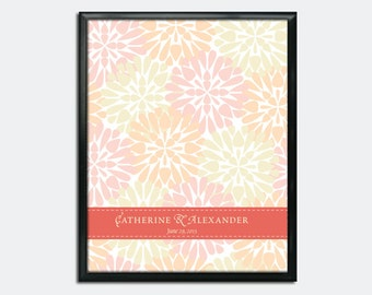 "Wedding Guestbook Poster PDF - Floral - 16"" x 20"" - Personalized"