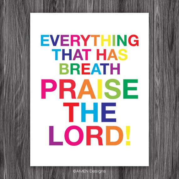 Praise the Lord. 8x10. DIY. PDF. Printable Nursery Decor. Amen Designs.