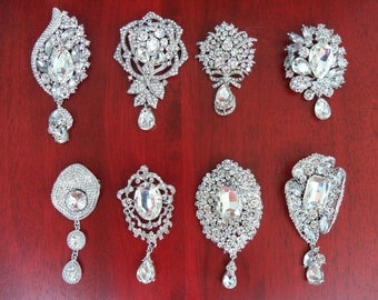 Brooch Options for SparkleSM Bridal Sashes