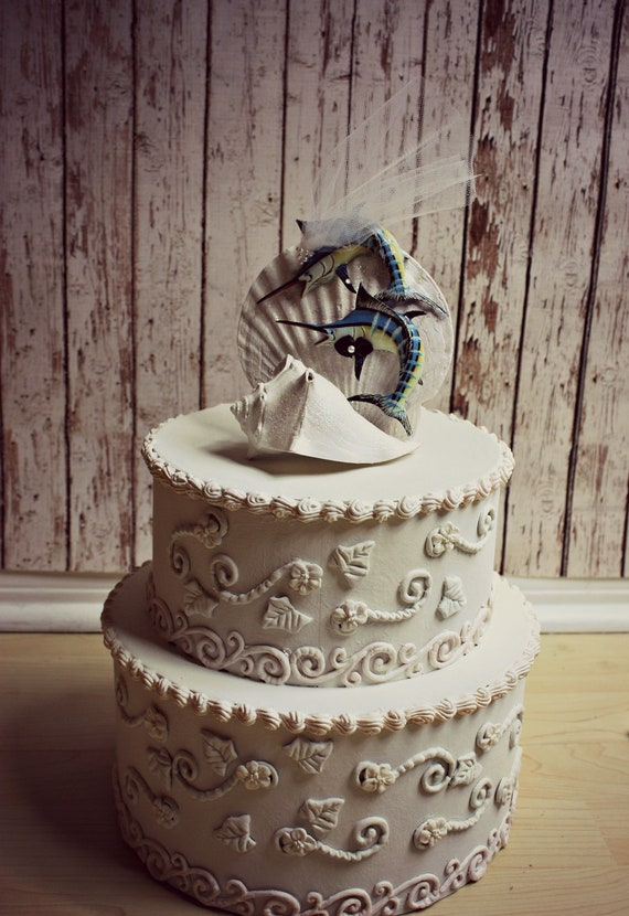 Sailfish wedding cake topper marlin cake topper sports fishing for Fishing themed cake toppers