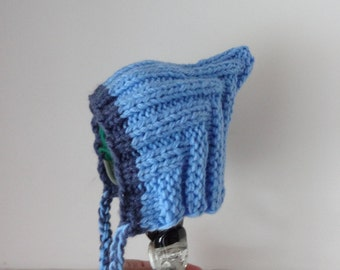 Baby Bonnet Hat - Newborn Photo Prop or GIFT / Knit Cable Bonnet Hat / Photography Prop hat / Knit Cable Hat / Baby hat /