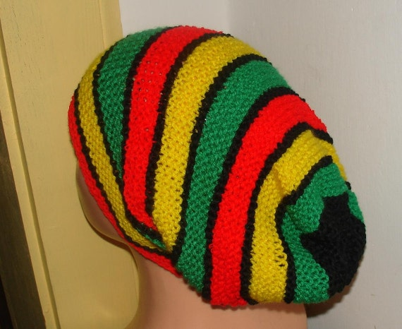 Knitting Pattern For Rasta Hat : Knit rasta HAT hippies Accommodates your dreadlocks by Ifonka
