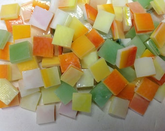 100 Spring GARDEN MEDLEY Mini Tiles 3/8 Stained Glass Mosaic Supply B43