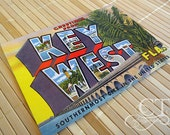 Key West Vintage Save the Date Postcard (GETTING STARTED)