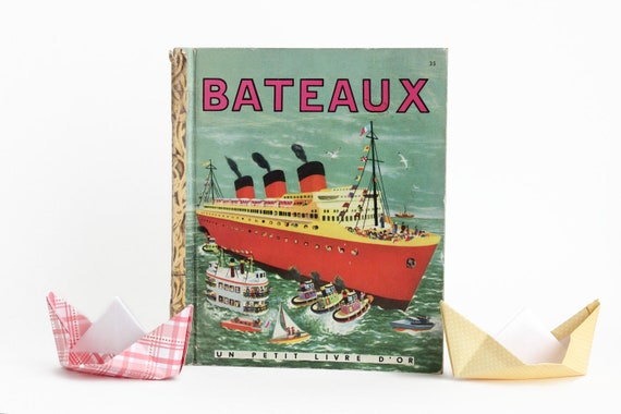 Little Golden Book Bateaux Boats French 1951