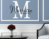 Wall Decals Personalized Family Name - Name Wall Decal - Monogram Decal - Family Name Decal - Wedding Decal