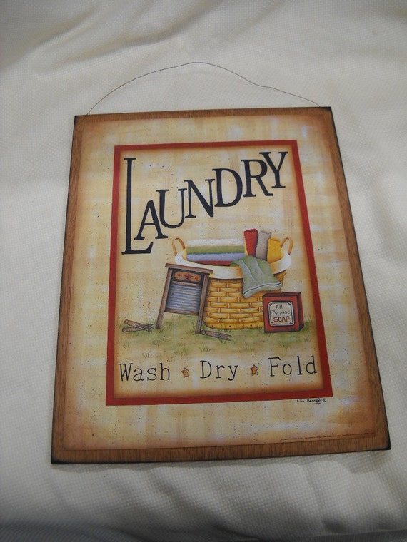Items Similar To Laundry Room Wooden Wall Art Sign Wash