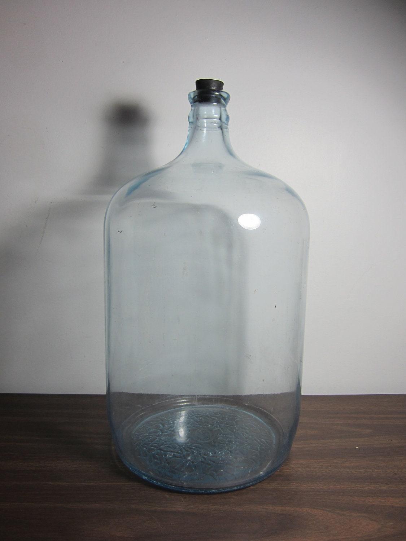 Vintage Glass Water Cooler Bottle 5 Gallon