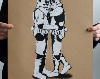 Star Wars Kissing Stormtroopers Limited Edition Screen Printed Poster