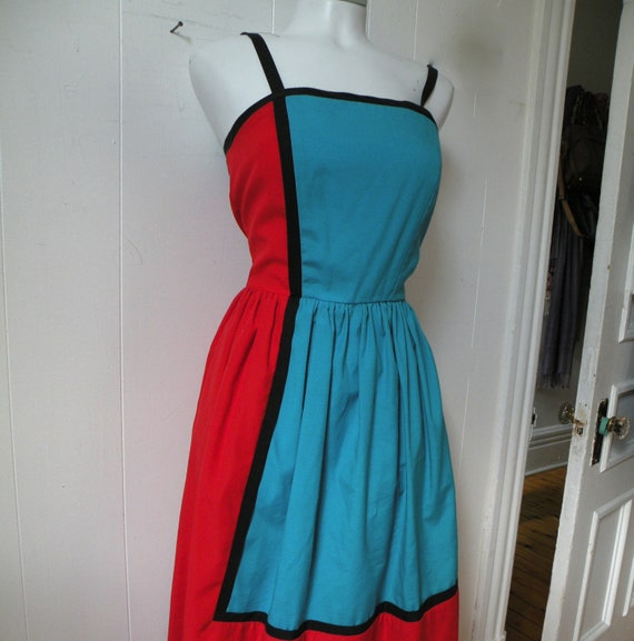 RESERVED for Ana -- 50s Cotton Sun Dress