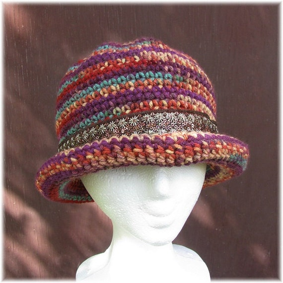 Derby Hat - Bowler Hat for Women - Fall colors