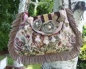 Bohemian Gypsy Tapestry Hippie Fringed Bag Purse