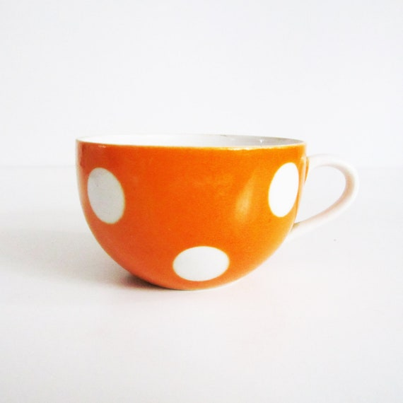 Adorable Vintage POLKA DOT tea or coffee CUP, use fror kitchen and home decor.