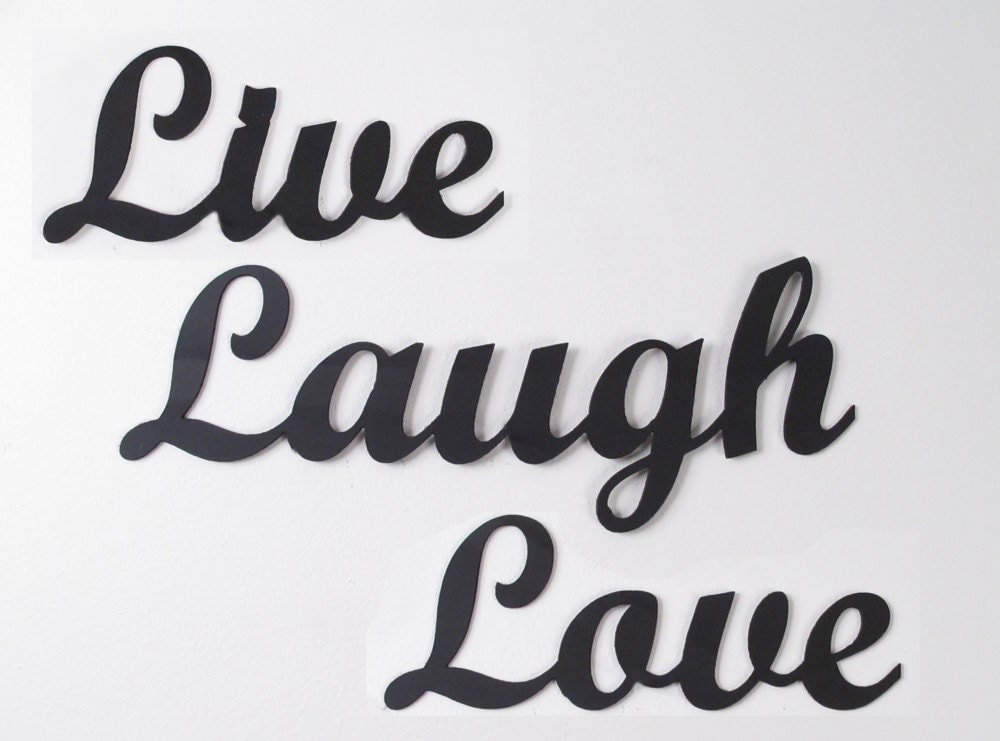 Metal wall art words live laugh love wrought iron for Live laugh love wall art