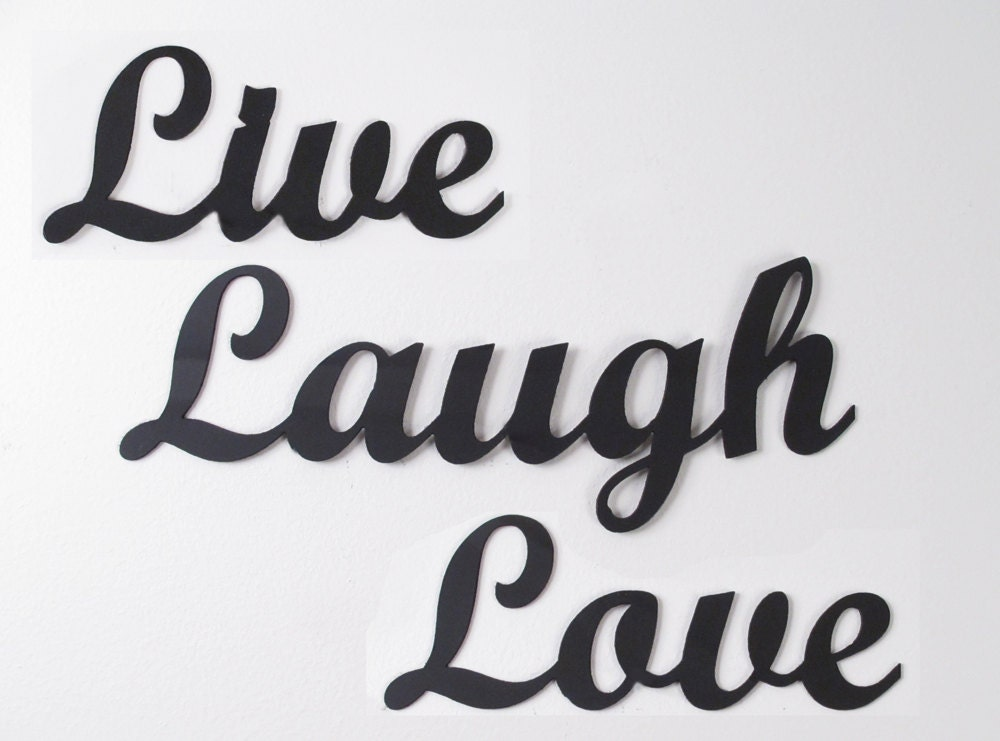 metal wall art words live laugh love wrought iron. Black Bedroom Furniture Sets. Home Design Ideas