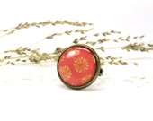 Orange Ring - Adjustable Ring - Yellow Ring - Rings Jewelry - Fashion Ring - Free Shipping (0-2R)