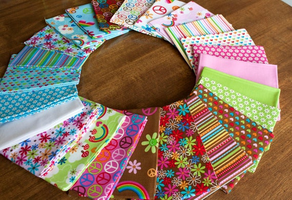 feeling groovy fat quarter bundle // modern girl fabric bundle