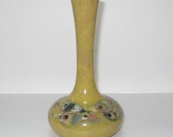 "Polia Pillin 7"" Bud Vase School of Fish - Signed Mid Century Modern Art Pottery"