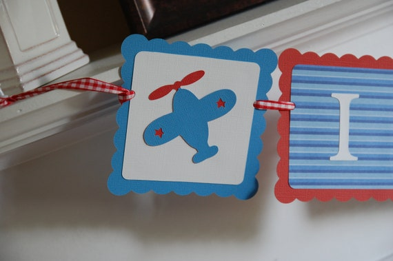 Airplane Its A Boy Banner Airplane Baby Shower Decorations Red