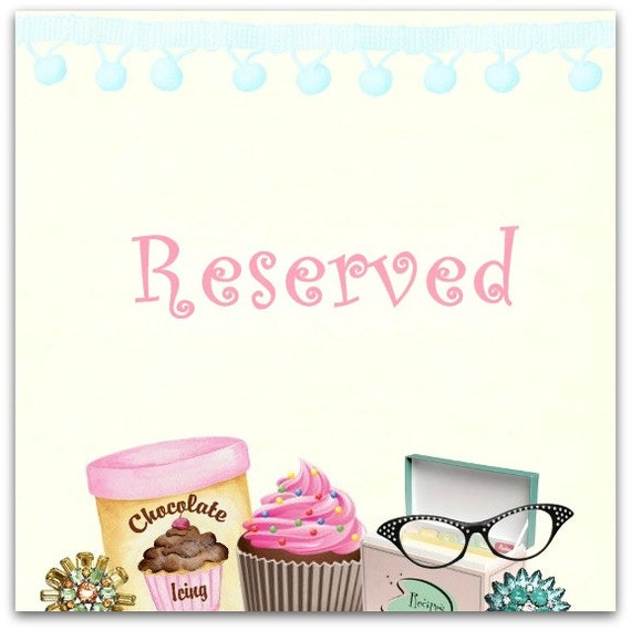 Special reserved listing for Raoul