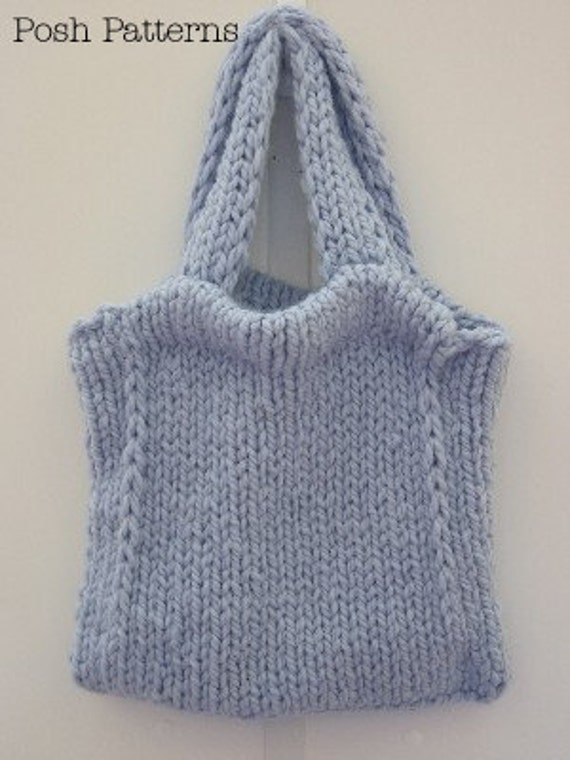 Knitted Tote Bag Pattern : Knitting PATTERN Tote Bag Knitting Pattern Handbag