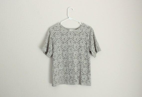 Biege Floral Lace Top