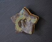 """Ceramic Initial Star Magnet - """"N"""""""