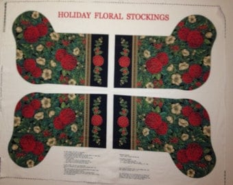 Holiday Floral Christmas Stockings