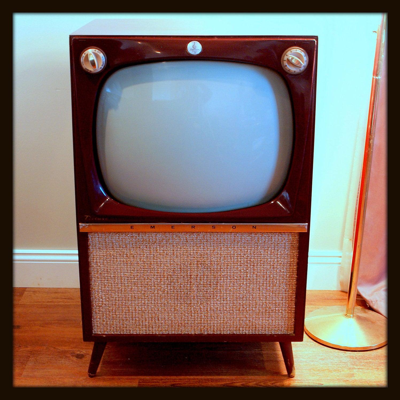Rare MID CENTURY Modern 50s Atomic TV Set 1956 By