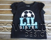 Sister Soccer Applique Shirt